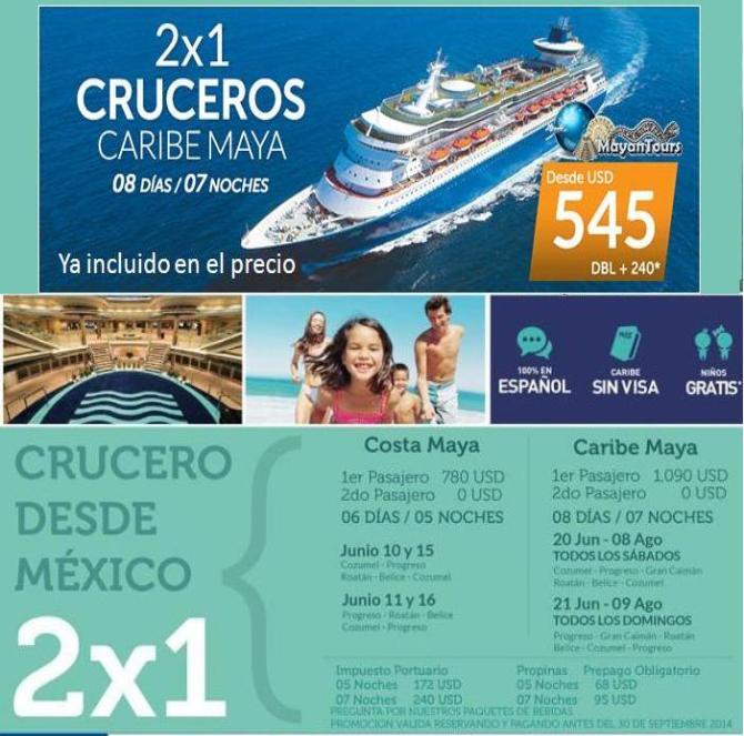2x1 crucero: